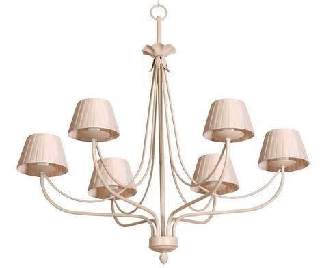 Lámpara clásica 6 luces Giselle: Dormitorios de estilo clásico de Ámbar Muebles