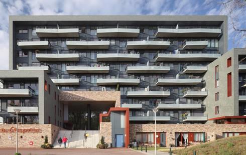 Wijndaelerplantsoen: moderne Huizen door HVE Architecten bv