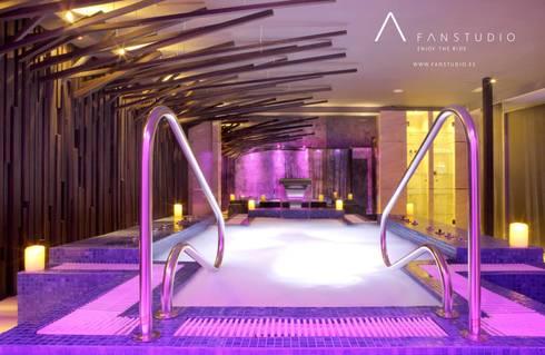 HOTEL RURAL <q>LAS TREIXAS</q>: Casas de estilo rústico de FANSTUDIO__Architecture & Design