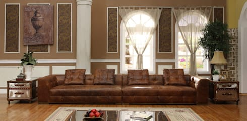 Vintage Leather Sofa : classic Living room by Locus Habitat
