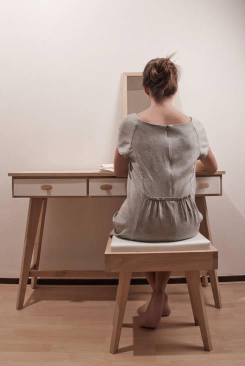 Projekty,  Sypialnia zaprojektowane przez Studio Op Poten