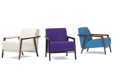 Splinter fauteuil: moderne Woonkamer door Harvink