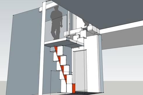 Design detail:  Corridor & hallway by Phi  Architects