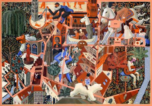 Bruges City Game:  Kunst  door Pieter Van Eenoge