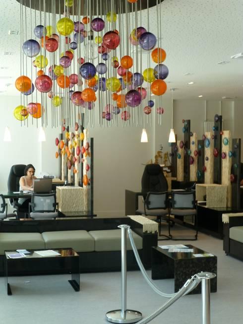 d coration d 39 un hall d 39 accueil by verrerie de soisy sur. Black Bedroom Furniture Sets. Home Design Ideas