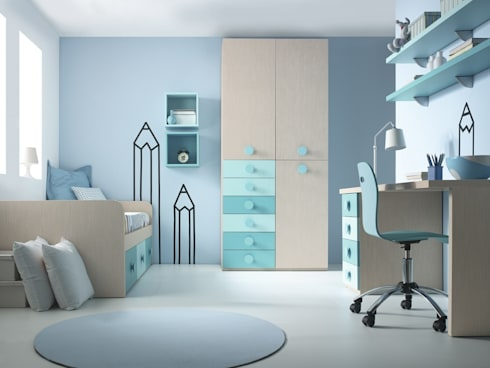 Sonr e idees 2 de muebles orts homify - Habitacion juvenil azul ...