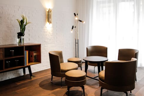Hotel City, Zurich: modern Living room by Dyer-Smith Frey