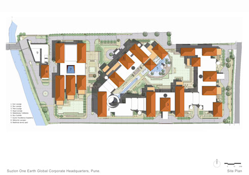 Site Plan:   by Christopher Charles Benninger Architects Pvt. Ltd.