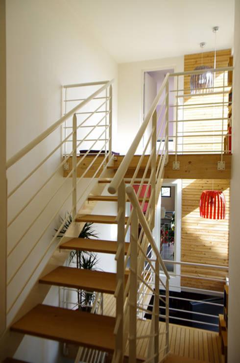 Extension de maison à Draveil: Maisons de style  par Atelier d'Architecture Marc Lafagne,  architecte dplg