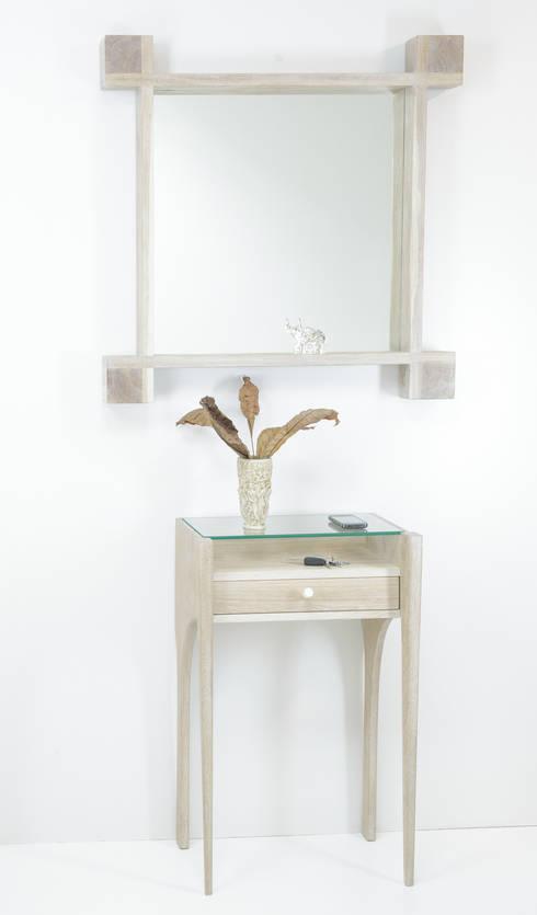 """Lustro """"Kwadrat"""": styl , w kategorii Korytarz, hol i schody zaprojektowany przez Meble Autorskie Jurkowski"""
