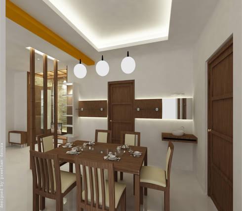 Dining spaces: minimalistic Dining room by Preetham  Interior Designer
