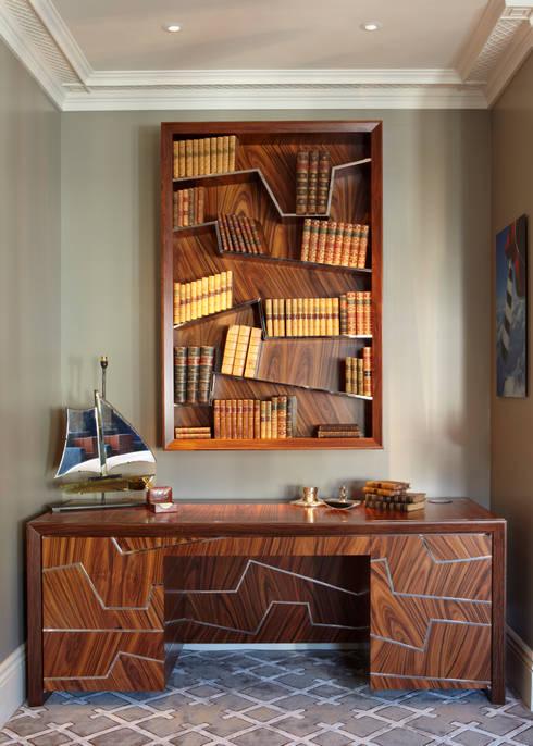 Santos Rosewood Bookshelf:  Living room by Gosling Ltd
