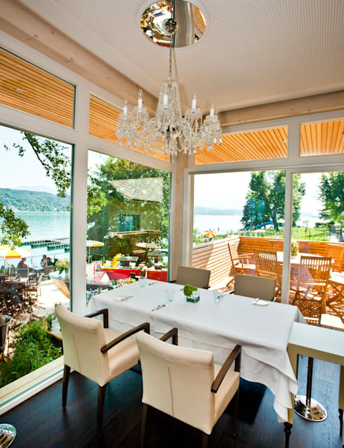 see restaurant saag w rthersee 3 hauben mit 190 grad seeblick von weingraber prohart. Black Bedroom Furniture Sets. Home Design Ideas