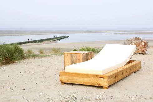 Bain de soleil en bois de palette de wood bc homify - Bain de soleil en palette ...