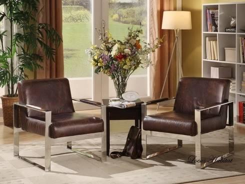 Leather Armchair from Locus Habitat:  Living room by Locus Habitat