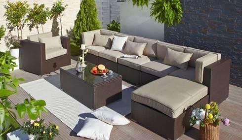 Colecci n completa de muebles de jardin para uso privado for Sofa exterior terraza