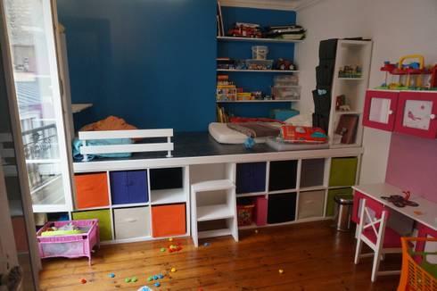 chambre d 39 enfants estrade par agence duo deco paris homify. Black Bedroom Furniture Sets. Home Design Ideas