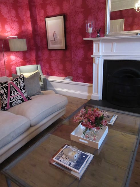 Various   : modern Living room by Saving Graces Interiors