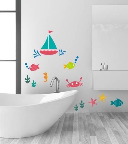 Wandsticker Unterwasser Set:  Badezimmer von www.wandtattoo-home.de