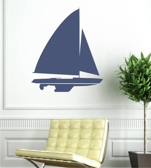 Segler als Wandtattoo : klassische Wohnzimmer von www.wandtattoo-home.de