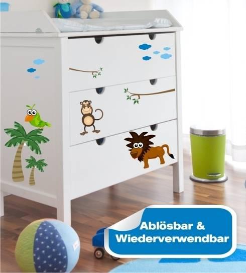 Möbelsticker Dschungel Set: klassische Kinderzimmer von www.wandtattoo-home.de