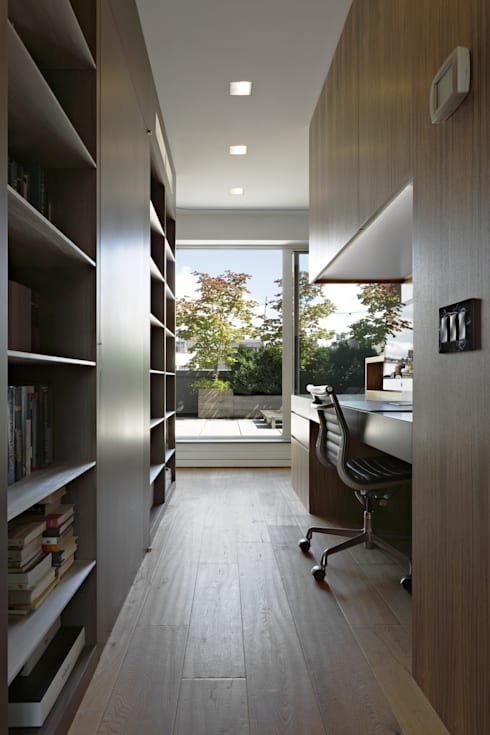 Soho Duplex: modern Study/office by Slade Architecture