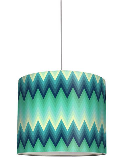 """Lampenschirm """"ZigZag Green- Turquoise"""": moderne Wohnzimmer von Anna Wand"""