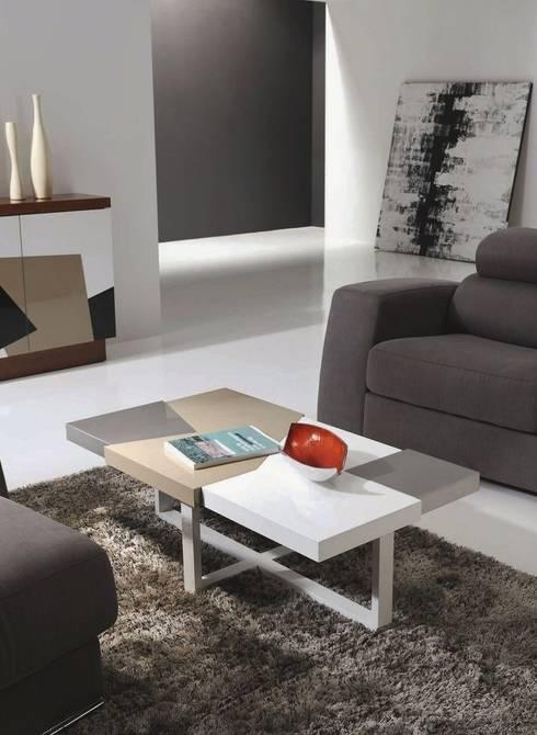 Mesa de centro rectangular Morada: Salones de estilo moderno de Paco Escrivá Muebles