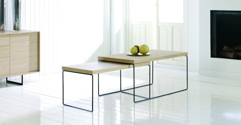 Mesa de centro moderna Loft: Salones de estilo moderno de Paco Escrivá Muebles