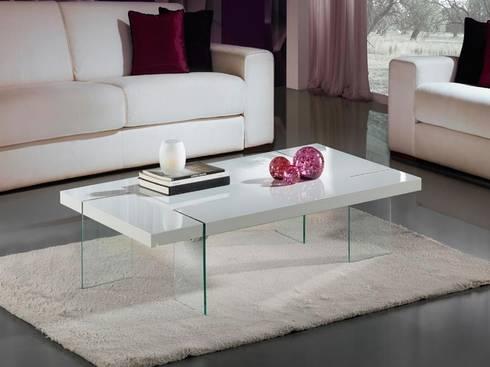 Mesa de centro moderna Brisa blanca: Salones de estilo moderno de Paco Escrivá Muebles