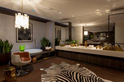Casa Cor 2014: Banheiros modernos por Brunete Fraccaroli Arquitetura e Interiores