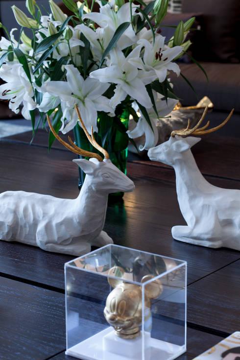 Casa Cor 2014: Salas de estar modernas por Brunete Fraccaroli Arquitetura e Interiores