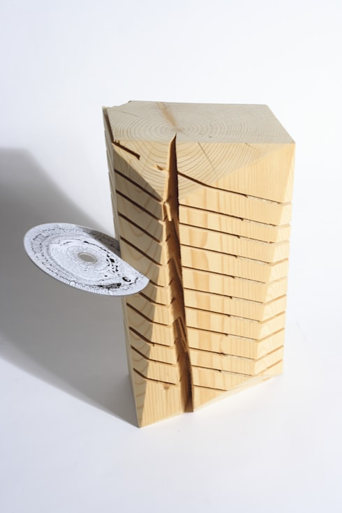 Wooden CD_Rack:  Wohnzimmer von Squaring