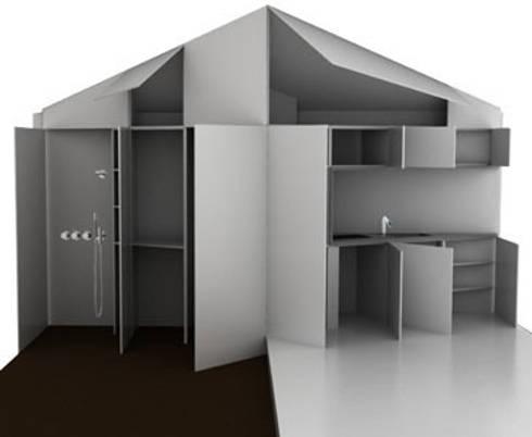 Recreatie woning: moderne Keuken door 2by4-architects