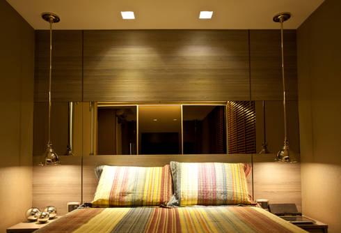 Quarto Casal : Salas de estar modernas por Leles Arquitetura e Iluminação