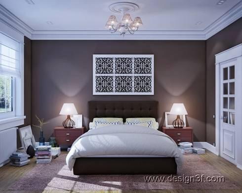 Дом в Санкт-Петербурге: Спальни в . Автор – студия Design3F