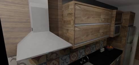 Área Social Integrada: Cozinhas modernas por RS Design Studio