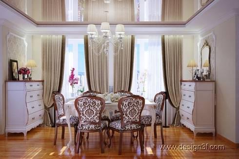 Гостиная: Гостиная в . Автор – студия Design3F