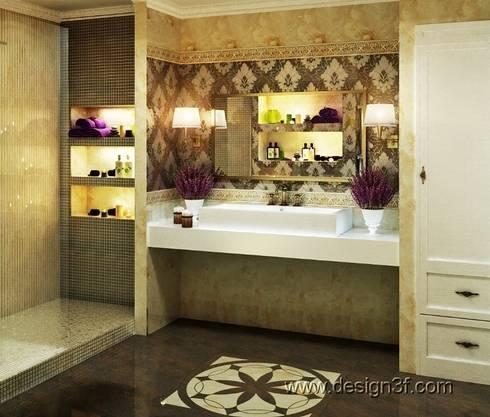 Ванная: Ванные комнаты в . Автор – студия Design3F
