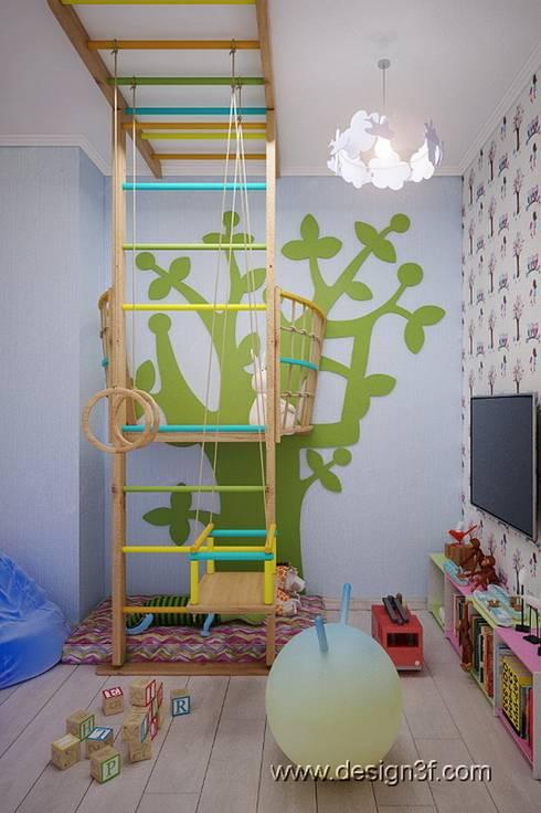 Игровая комната: Детские комнаты в . Автор – студия Design3F