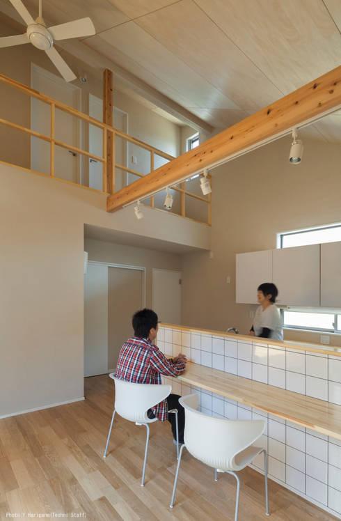 minimalistic Dining room by 松岡健治一級建築士事務所
