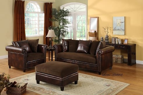 Natural Cleaners for Leather Furniture You Can Find at Home : classic Living room by Locus Habitat