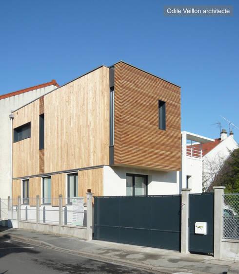 maison de ville sur l vation et extension en bois pr s de paris par agence d 39 architecture. Black Bedroom Furniture Sets. Home Design Ideas