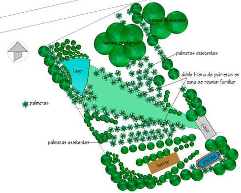 Jardin en Finca Mexicana, Veracruz:  de estilo  de Paisajismo Digital