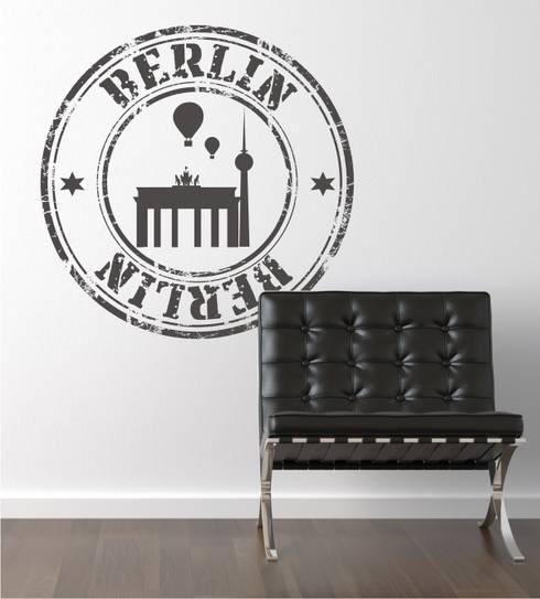 Projekty,  Salon zaprojektowane przez www.wandtattoo-home.de