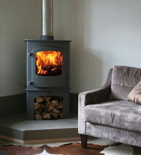 Charnwood Cove 2B Boiler Stove:  Living room by Direct Stoves