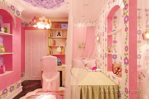 детская: Детские комнаты в . Автор – студия Design3F