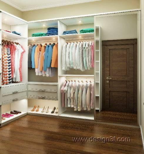 гардеробная: Гардеробные в . Автор – студия Design3F