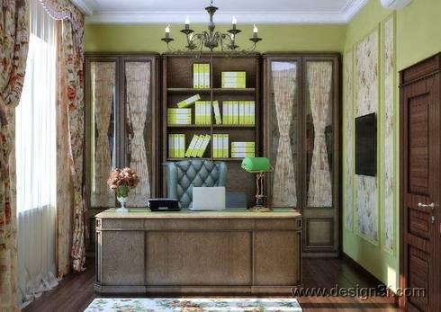 кабинет: Рабочие кабинеты в . Автор – студия Design3F