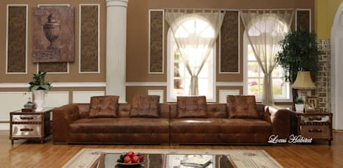 Leather Sofa from Locus Habitat: classic Living room by Locus Habitat